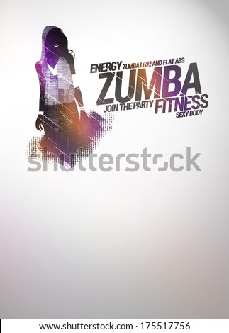 Zumba party dance training invitation advert stock illustration zumba party or dance training invitation advert background with empty space stopboris Images