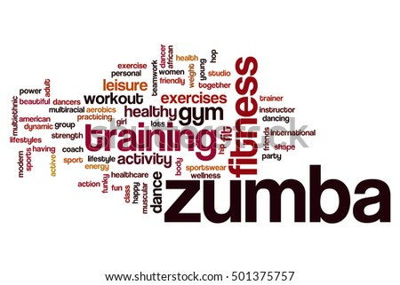 Zumba word cloud concept