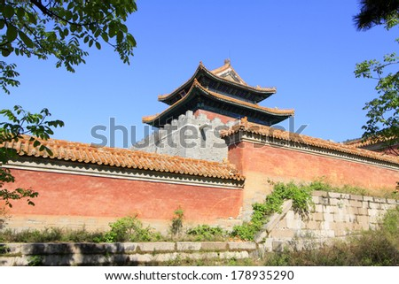 ZUNHUA, CHINA - MAY 11, 2013: Ancient architecture scenery in the Eastern Royal Tombs of the Qing Dynasty, Zunhua, Hebei Province, china.