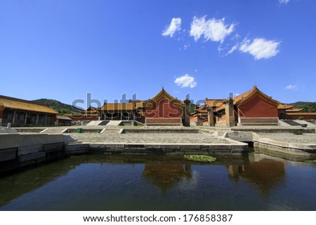 ZUNHUA - MAY 11: Ancient architecture scenery in Eastern Royal Tombs of the Qing Dynasty on May 11, 2013, Zunhua, Hebei Province, china.