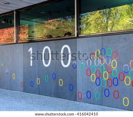 google office switzerland. zurich switzerland 20 april 2016 wall of the google office building