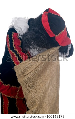 Zwarte Piet is a Dutch tradition during Sinterklaas, which is celebrated in December the fifth. - stock photo