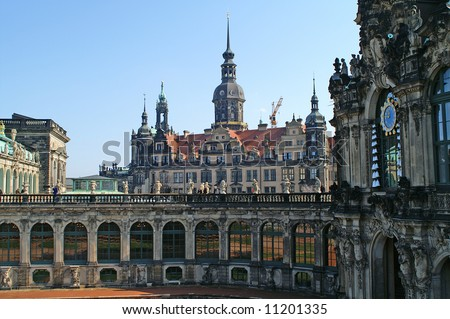 Zwinger palace, dresden - stock photo