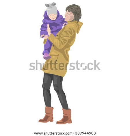 a child in the arms of mother