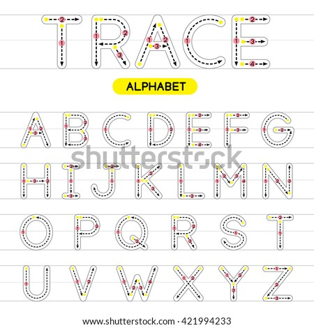 Free Worksheets : trace alphabet a-z Trace Alphabet ; Trace ...