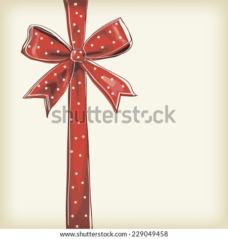 abstract background with an image of a bow