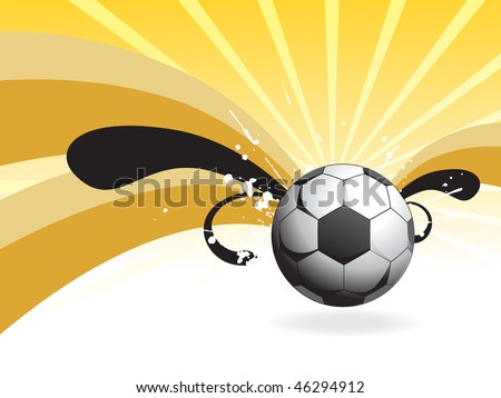 abstract background with isolated football illustration