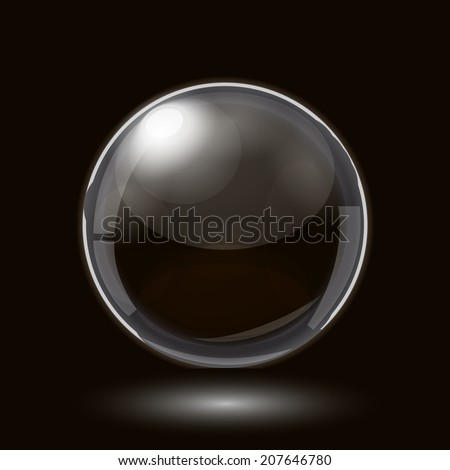 Abstract Design with Glass Sphere - stock vector