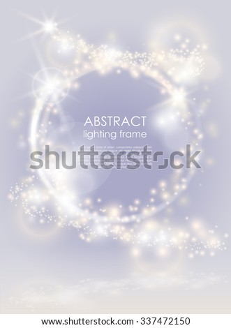 Abstract glow bright background. Sparkling light festive poster. For Christmas and New year project - stock vector
