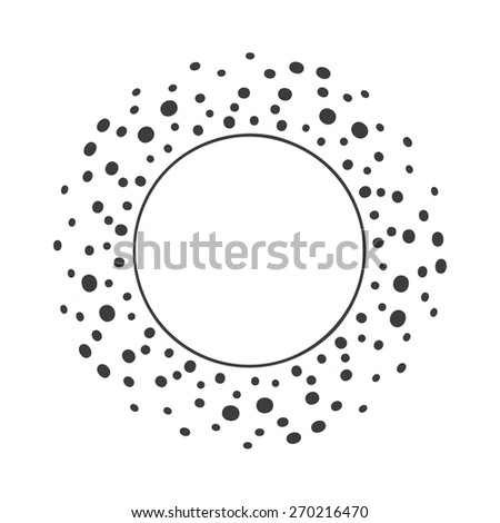 abstract modern business dalmatian dotted background  - stock vector