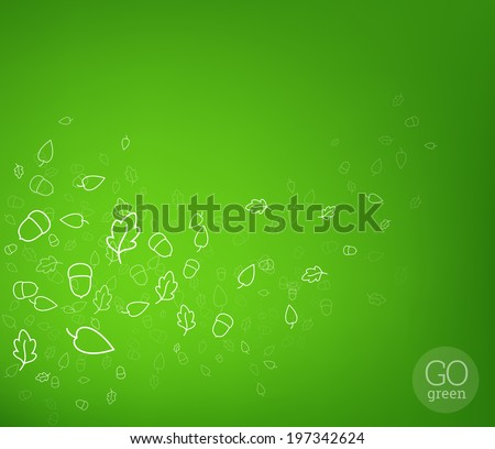 Abstract nature fly background. Vector illustration. - stock vector