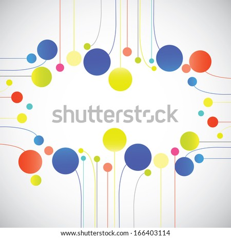 Abstract shapes on the gray background - stock vector