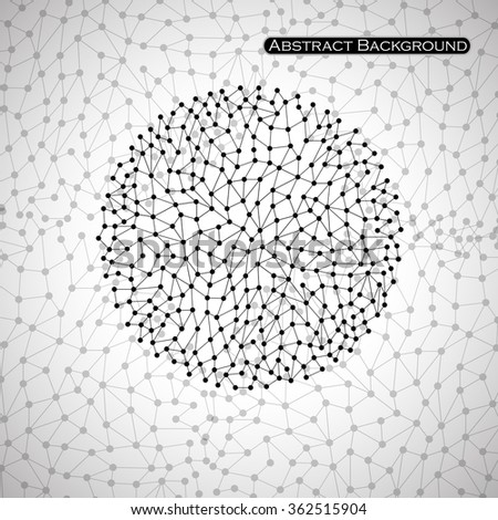Abstract spherical shape. Points. Isolated on light background. Vector illustration. Eps 10 - stock vector