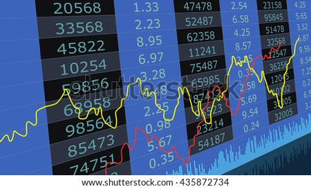 Abstract stock market diagram candle bars trade. Candle stick graph chart and indicator of stock market investment trading - stock vector