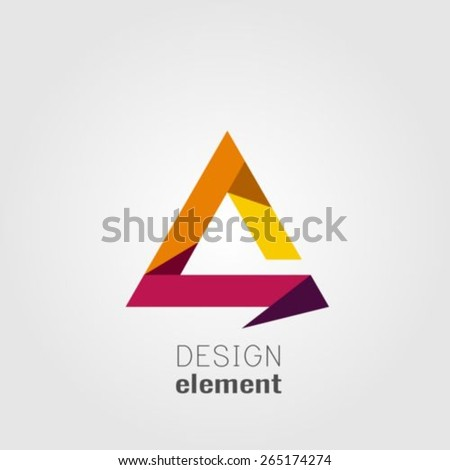 Abstract triangle logo design template - stock vector