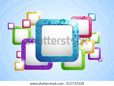 Abstract Vector Background with Colored Frames  - stock vector