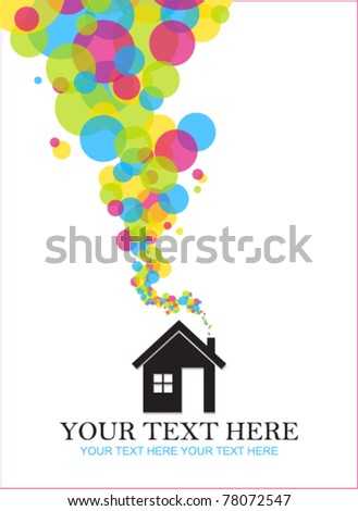 Abstract vector illustration of house. Place for your text - stock vector