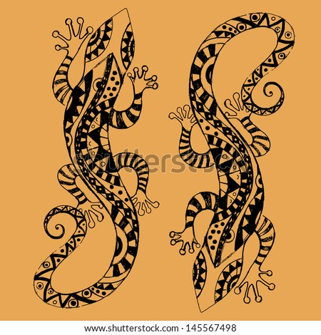 african animals lizard stock vector 145567498 shutterstock. Black Bedroom Furniture Sets. Home Design Ideas