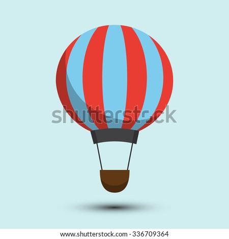 Air balloon icon - stock vector