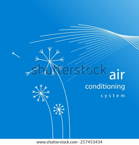 air conditioner - conditioning ventilation system abstract background - stock vector