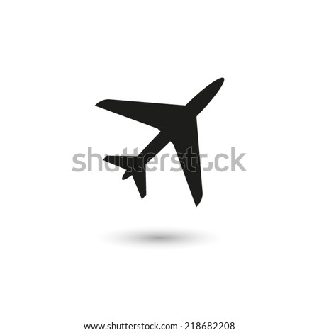 Airplane - vector icon - stock vector