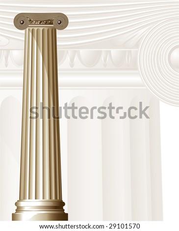 Ancient Columns. Vector. - stock vector