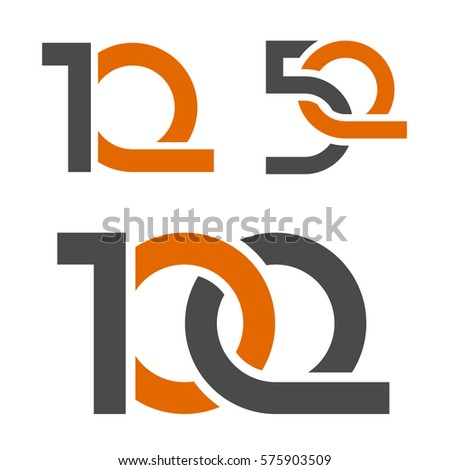 10 50 100 Anniversary Number Vector Stock Vector 575903509
