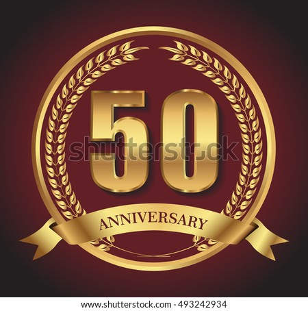 Golden jubilee stock images royalty free images vectors 50 anniversary template design50 years anniversaryctor illustration yadclub Image collections