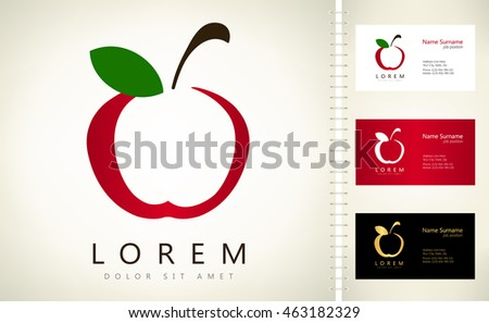 Apple vector business card template stock vector 463182329 apple vector with business card template fbccfo Gallery