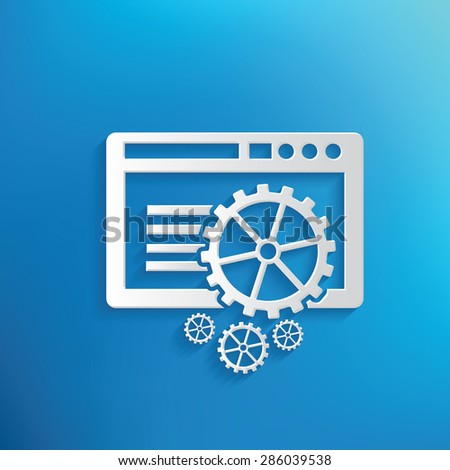 Application design on blue background,clean vector - stock vector