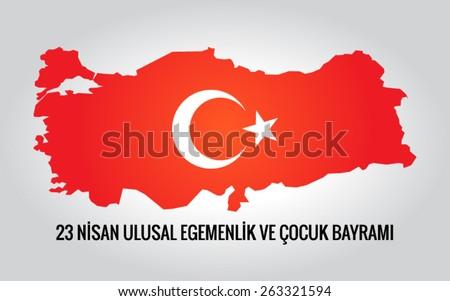 23 April Children's day - 23 Nisan Cocuk Bayrami - stock vector