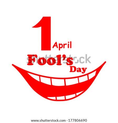 1 april. Fools Day. Vector illustration  - stock vector