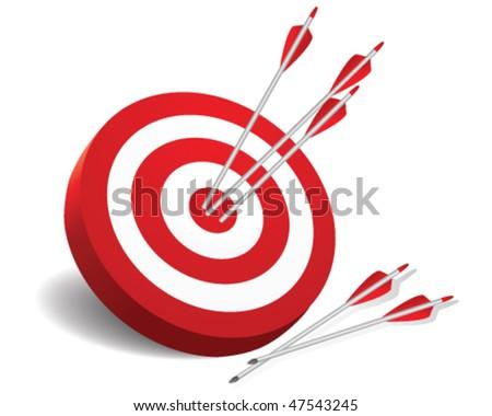 archery target - stock vector