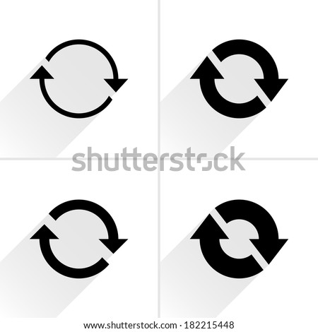 4 arrow icon. Set 02. - stock vector