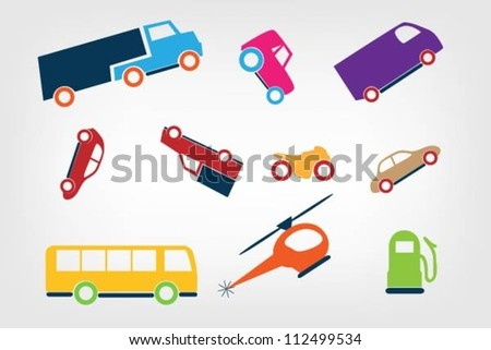 ?artoon cars icon - stock vector