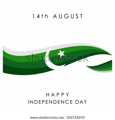 14 August. Pakistan Independence Day. Celebration Card. Vector Illustration