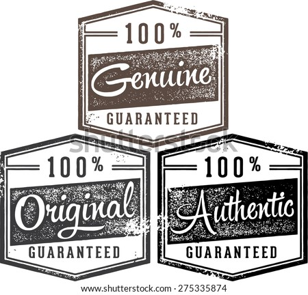 100% Authentic Genuine Original Stamp Collection - stock vector