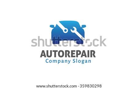 Auto Repair Design Illustration - stock vector