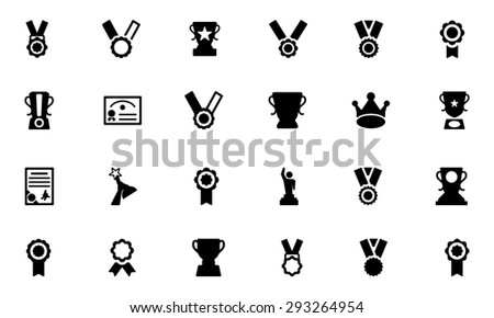 Award and Medal Vector Icons 3  - stock vector