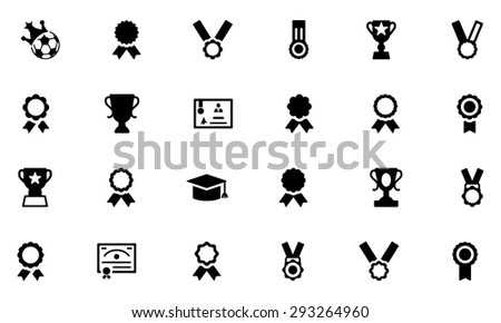 Award and Medal Vector Icons 2  - stock vector