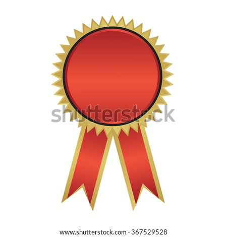 award with ribbons. Vector illustration.
