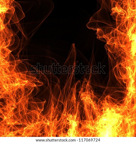 background fire frame vector - stock vector
