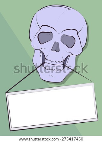 Background for the announcement in a teeth of a skull in a vector - stock vector