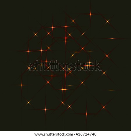 background .red laser beams,Vector illustration. - stock vector