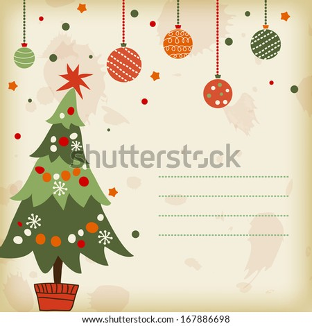 background with the image of a Christmas tree