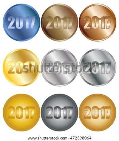 2017 Badges Set