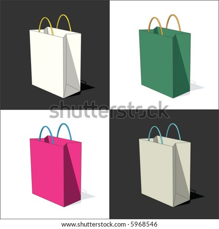 4 bag (vector) - stock vector