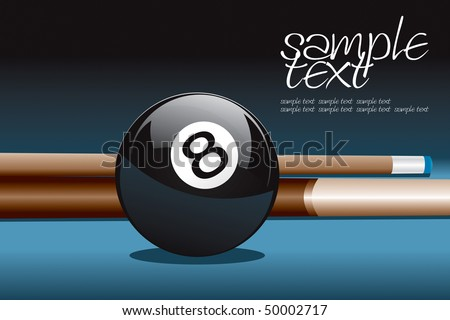 8 Ball and Stick Vector Drawing - stock vector