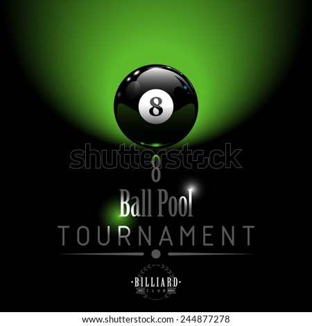 8 Ball Pool Tournament background - stock vector
