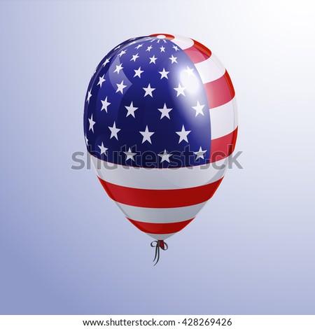 Balloon American Patriotic Symbols Stock Vector Hd Royalty Free